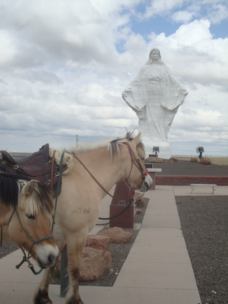 "Pin BLuff ""Our lady of Peace"" statue"