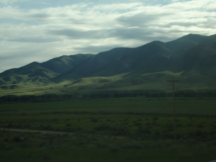 Montana's mountains had a soft velvety green blanket covering them.