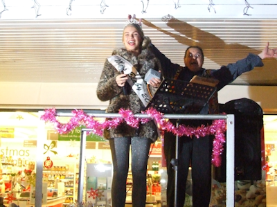 Blaby Lights switch on by Miss Blaby, Tammy Dexter