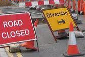 Road Closed plus Diversion sign (photo)