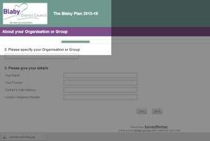 SurveyMonkey web page