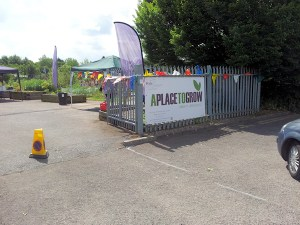 APTG allotment entrance open day 2015