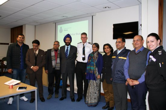 Leicestershire Chief Constable welcomes Indian delegation