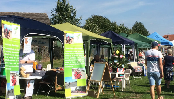 Enderby Fete stall avenue