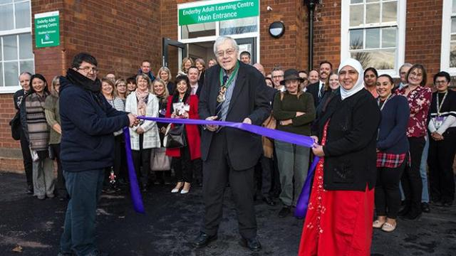 The centre opened by Cllr.David Jennings