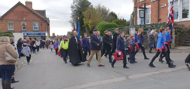 Enderby Remembrance Sunday procession 2019