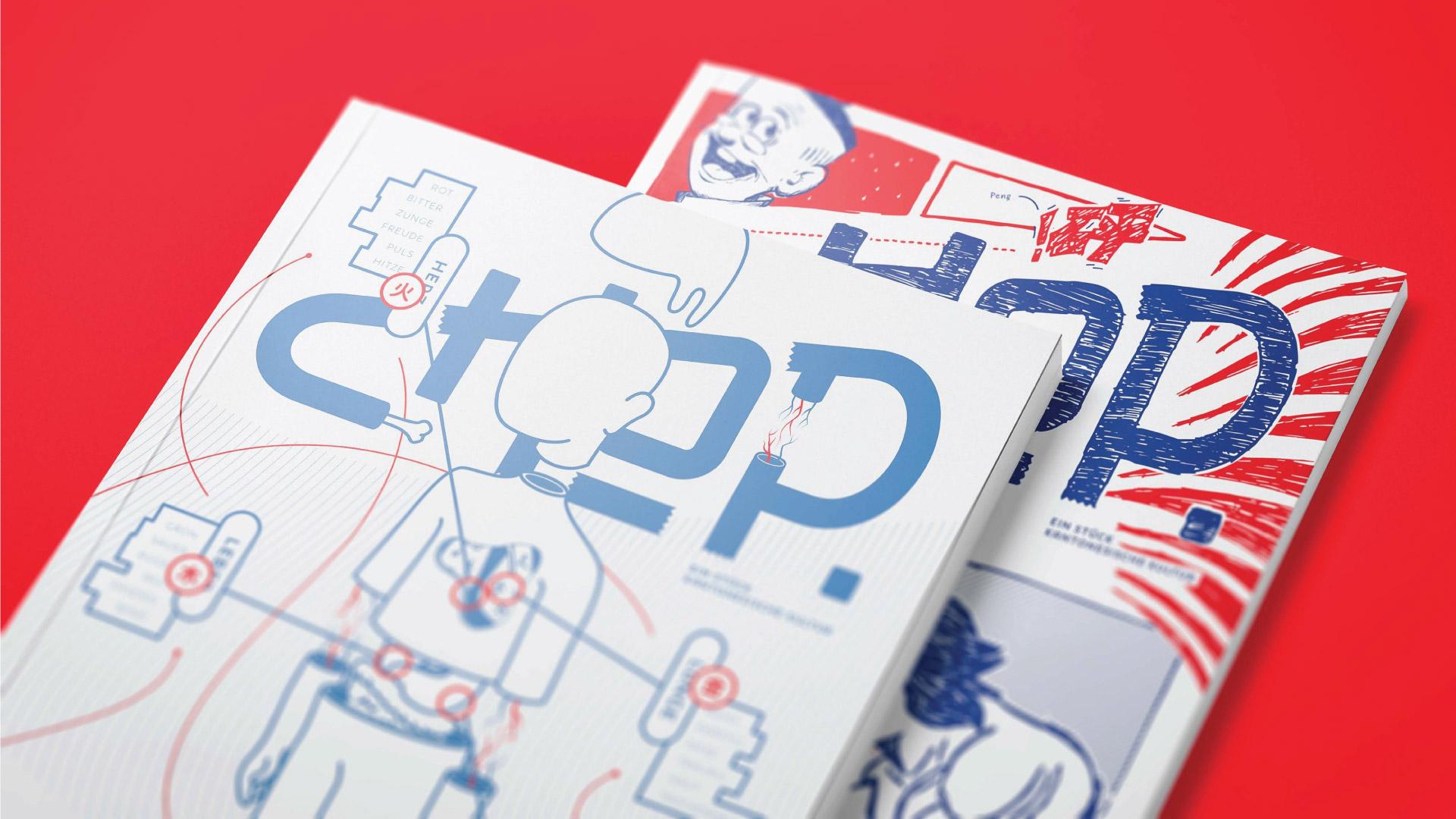 Endformat Designstudio. Design in Konstanz am Bodensee. Chop Mook-Magazine Design