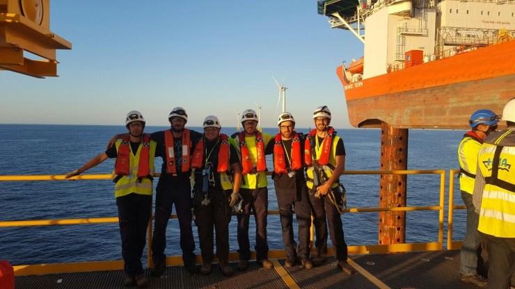 Endiprev team at Block Island Offshore Wind Farm