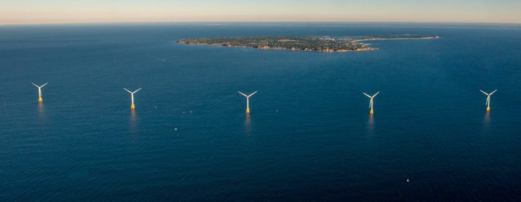 GE Haliade H150 wind turbine generators at Block Island Offshore Wind Farm