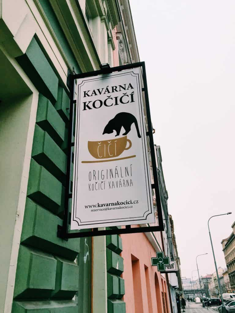 When in Prague, explore the up-and-coming neighborhood of the Karlin District. Karlin District in Prague is easy to navigate with amazing coffee shops, a cat cafe, and astounding architecture including the prettiest elementary school you've ever seen! #prague #travel #czechrepublic #karlindistrict