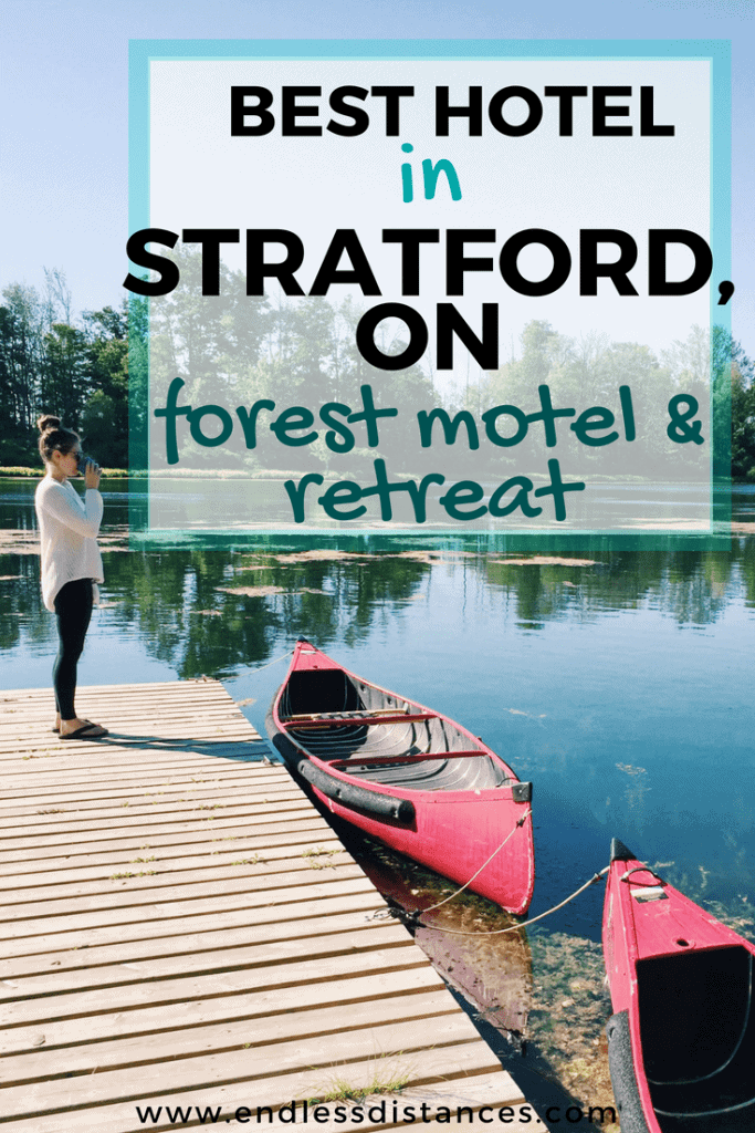 Looking for hotels in Stratford Ontario for your visit to the Stratford Festival? Forest Motel & Woodland Retreat is the most peaceful and unique of hotels in Stratford Ontario, located five minutes from downtown on 32 acres of woodland, offering hot tubs, breakfast, and more! #stratfordcanada #stratfordontario #stratford #forestmotel #stratfordhotels #travel #canada #ontario #stratfordfestival
