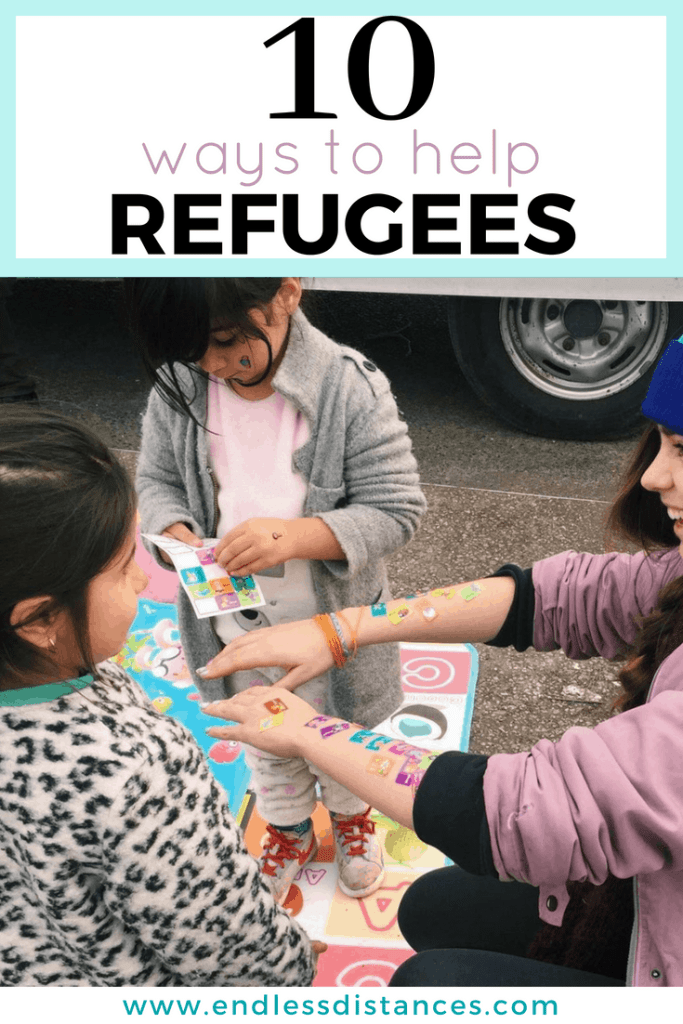 If you can't travel to refugee camps and are wondering how to help refugees, there are many ways to help refugees from home. Stop wondering how to help refugees and take action with these 10 practical ideas. #refugees #helprefugees #charity #chooselove #refugeeswelcome #refugee