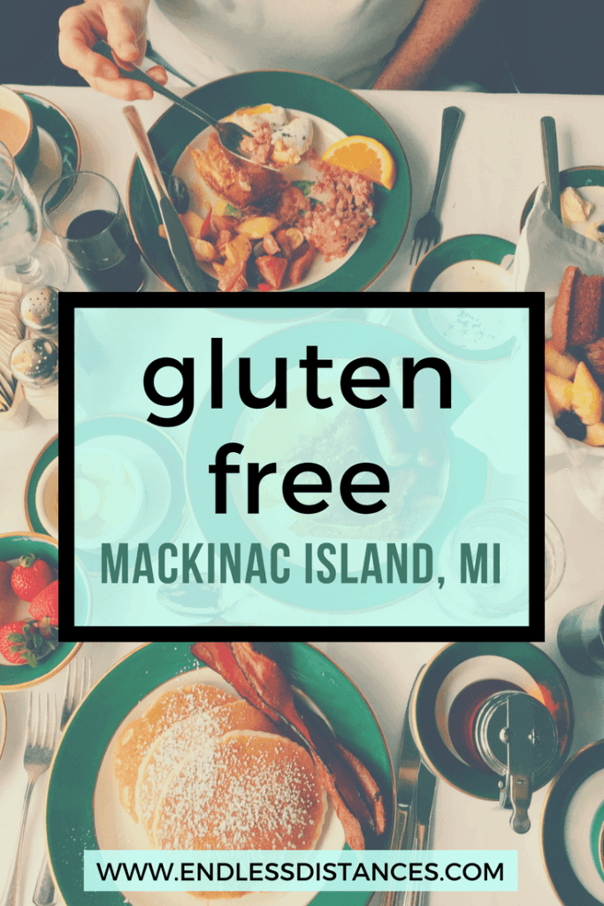 This is your complete guide to gluten free Mackinac Island, including the best hotel for gluten free travelers, restaurants, shops, and more. #glutenfree #glutenfreetravel #mackinacisland #mackinac #mackinaw #grandhotel #grandhotelmackinac
