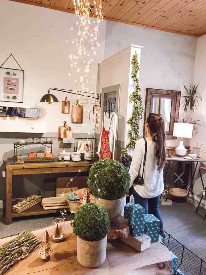 Traverse City shopping is packed with boutiques, artisans, and local makers. With three distinct areas for shopping, here is your complete guide to shopping this Michigan gem. #TraverseCity #TraverseCityMichigan #TraverseCityShopping #PureMichigan #Travel #Midwest #HolidayShopping