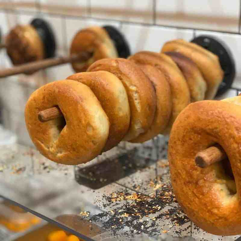 The best gluten free bagels NYC can be found at 100% GF Modern Bread and Bagel.