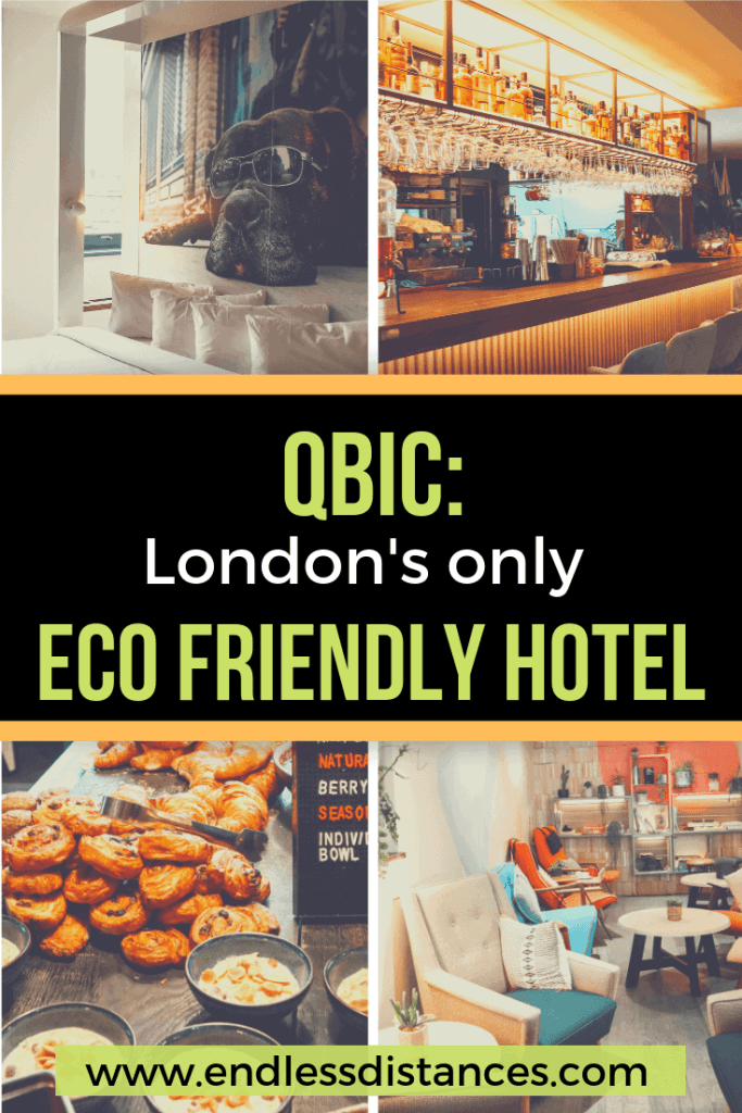 One hotel dominates the eco hotel London scene and that is Qbic London. Read on to learn about Qbic's eco initiatives, our stay, and things to do near Qbic. #ecohotel #london #londonhotel #greenhotel #qbic #qbichotel #boutiquehotel #designhotel
