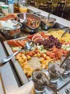 The buffet breakfast at Le Monastere Des Augustines.