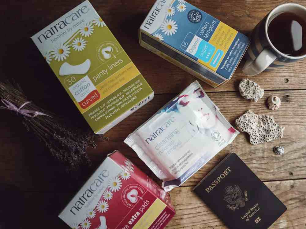 Traveling with endometriosis is possible, but challenging. Here are nine tips on how to treat your pain and symptoms on the go. #travelwithendometriosis #travelingwithendometriosis #endometriosis #endometriosisawareness #natracare #veganperiodproducts