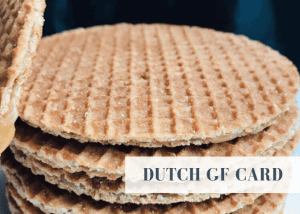 Dutch gluten free card
