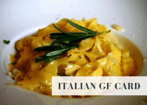 Italian gluten free card