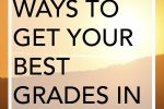 10 Easy Ways to Get Your Best Grades in College: Get your best grades in college today! These ten easy tips will help you get the grades you want. Click through to find out how.