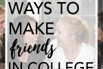 Five awesome and new ways to make friends in college including the Mixer application that allows you to meet up with people in your area. #sponsored