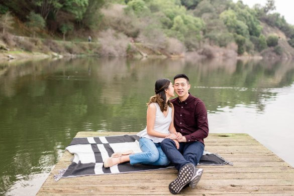 Susanna + Chris's Northern California engagement session at Lake Chabot