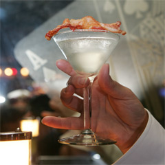 Bacon Cocktail Bacon Double Down Saloon PDT Bacon Martini Chocolate Bacon Martini Bentons