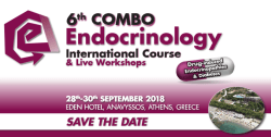 6th Combo Endocrinology International Course, 28-30/9/2018, Cabo Verde Hotel, Marathon, Greece