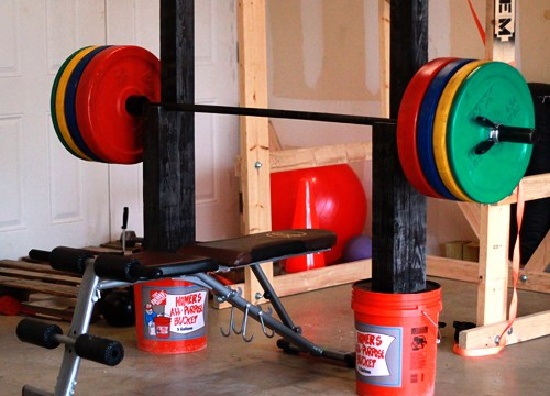 Homemade Squat and Bench Press Stand