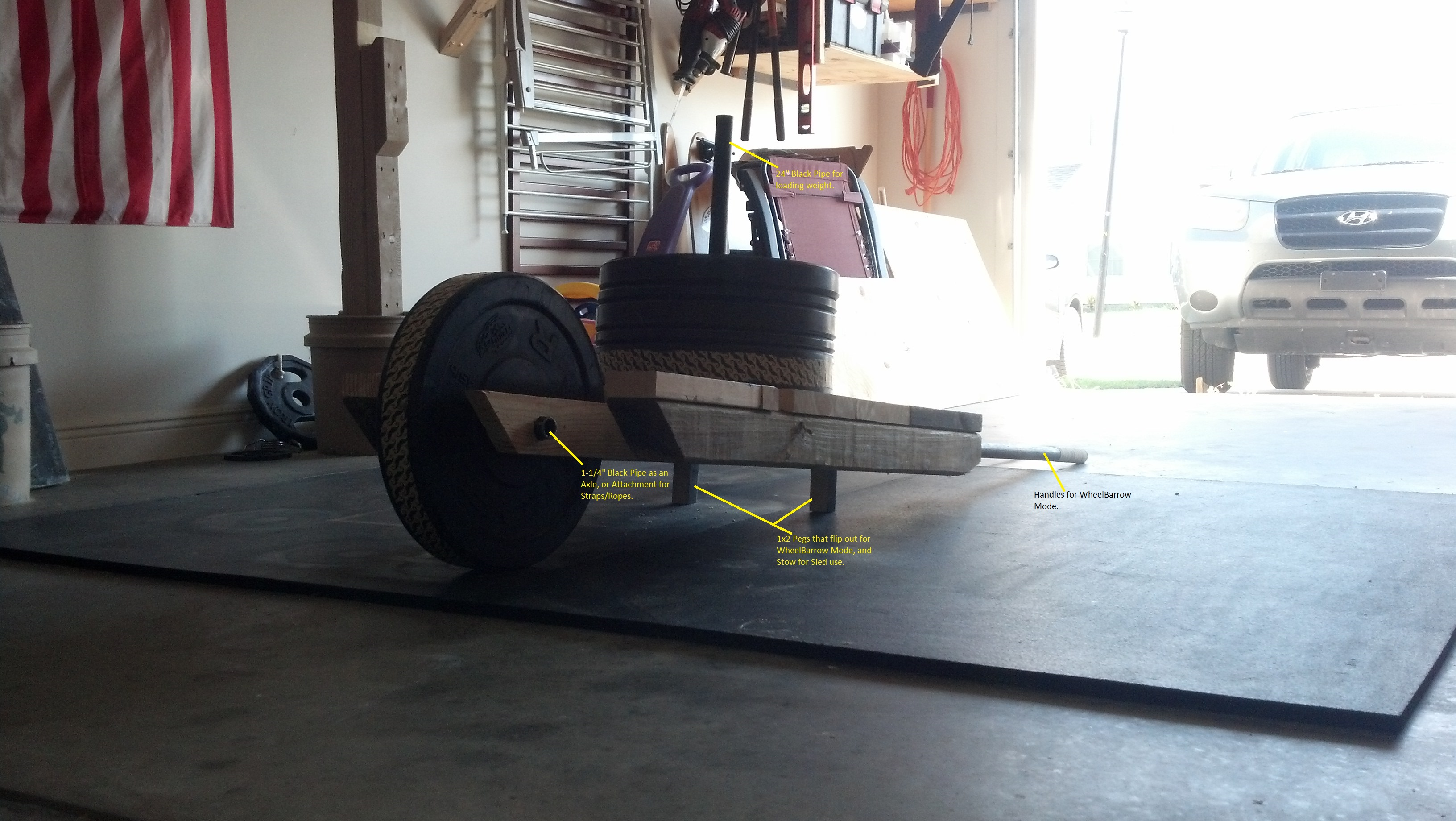 diy wheelbarrow and sled 2 in 1