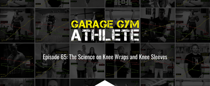 garage gym, garage gym athlete, end of three fitness, fitness, the science on knee sleeves and knee wraps, 60 min run for max meters, choosing a track