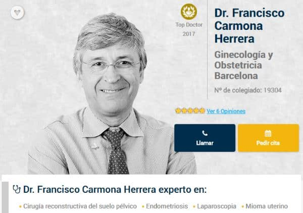 Dr. Francisco Carmona Top Doctors Awards 2017