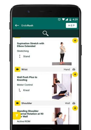 1. Access EndoRush Exercise Library with HD images / Videos.