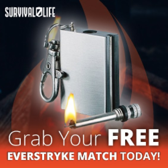 The Everstryke Match is a compact and waterproof handy gadget. It is small enough to fit on you're key chain.