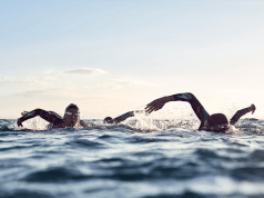 Speedo athletes swim with Garmin