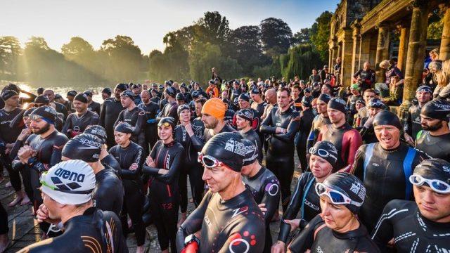 Hever Castle triathletes swim start