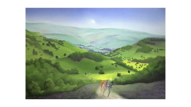 Over Moor and Dale - Mackenzie Thorpe Artwork Photos for Tour de Yorkshire