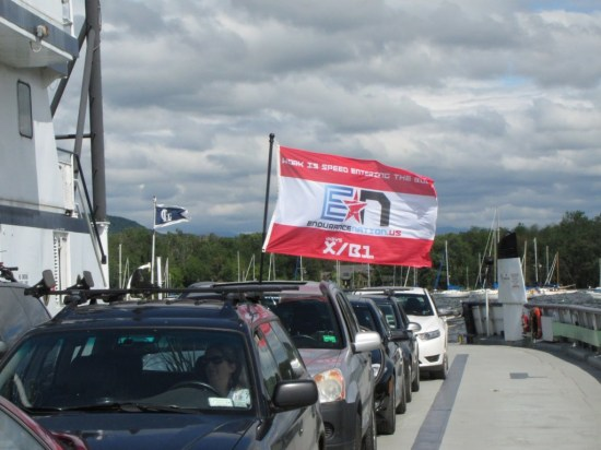 Team Endurance Nation Flag Flies at Lake Placid 2013