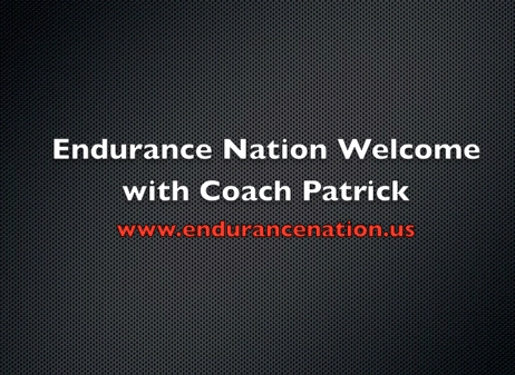 Welcome Video with Coach Patrick