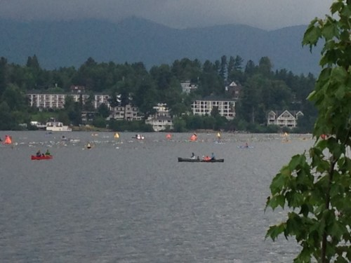 Swimming at Ironman Lake Placid 2014