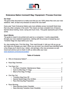 Pre Race Checklist Cover