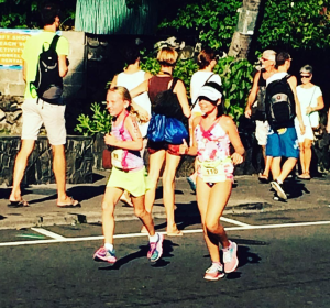 Megan and Emma in Keiki Dip n Dash!