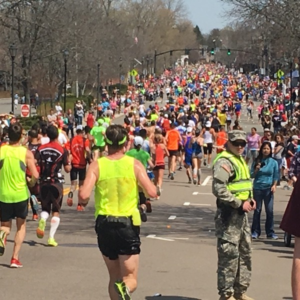 Running Mile 14.5 Boston