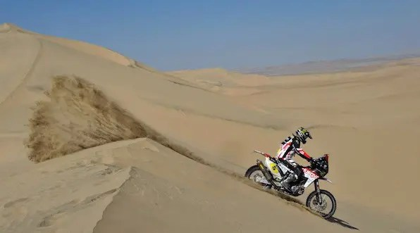 Dakar 2013, Jour 2 : Barreda fait gagner Husqvarna