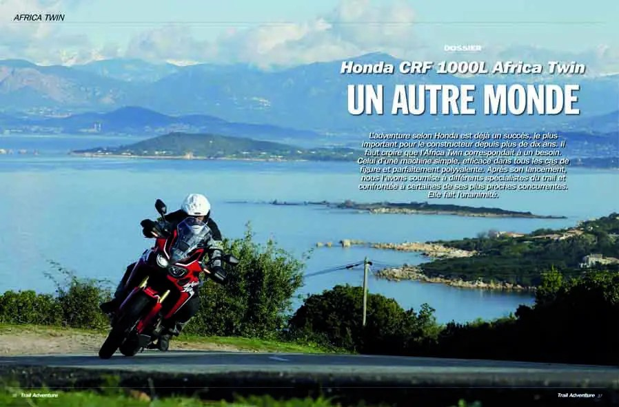 Dossier Honda CRF 1000L Africa Twin