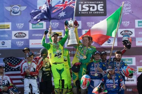 ISDE 2019 : l'équipe australienne dévoilée