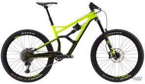 Triangle avant carbone/arrière aluminium - 13,75 kg - 5999€ - Suspensions Fox Float Performance Elite - Roues Cannondale/WTB aluminium - Transmission SRAM XO1 Eagle - freins Sram Guide RS - Poste de pilotage Cannondale carbone