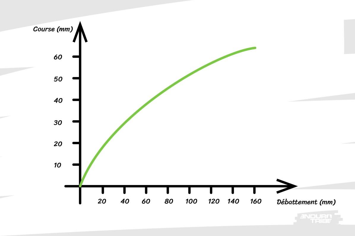 Plutôt que de s'intensifier en fin de course, la pente de la courbe de ratio absolu s'amenuise.