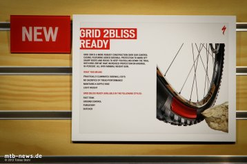 Chez Specialized, les carcasses Grid 2 Bliss comportent un insert en Butyl sur les flancs, et deux nappes de tissus 120Tpi de tringle à tringle. Specialized communique sur la gomme qui englobe l'ensemble, à forte dureté (70a sur certains modèles).